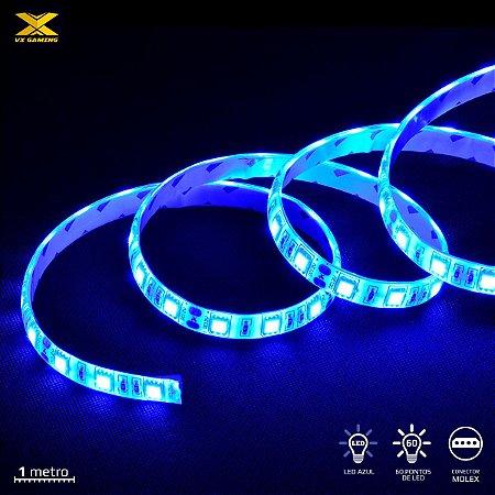 FITA DE LED VX GAMING AZUL COM CONEXÃO MOLEX 60 PONTOS DE LED