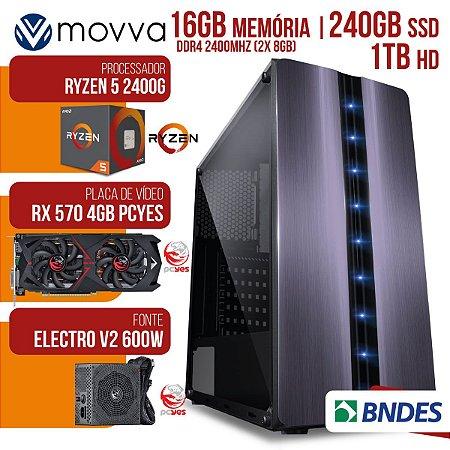 COMPUTADOR MVX5 AMD RYZEN 5 2400G 3.6GHZ MEM.16GB (2X 8GB)