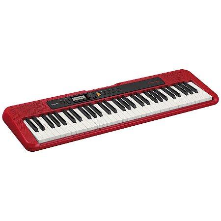 TECLADO MUSICAL CASIOTONE BASICO DIGITAL VERMELHO CT-S200rdc - CASIO