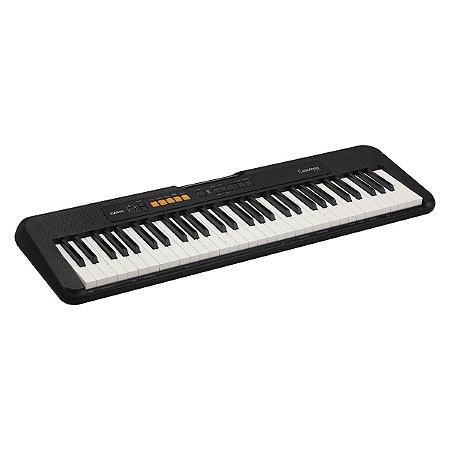TECLADO MUSICAL CASIOTONE BASICO DIGITAL CT-S100C2-BR - PRETO - CASIO