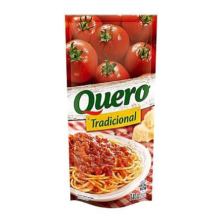 Molho de Tomate Tradicional sem Pedaço de Tomate Quero - 340g