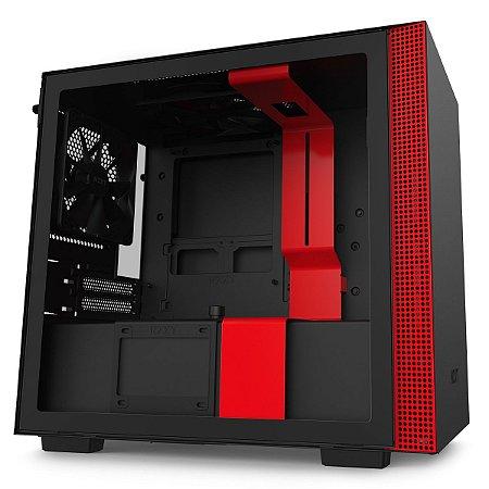 GABINETE H210 MATTE BLACK/RED - CA-H210B-BR