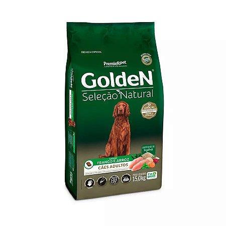 Ração Golden Seleção Natural para Cães Adultos Sabor Frango