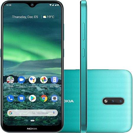 """Smartphone Nokia 2.3 Dual Chip Android Tela 6.2"""" 32GB 4G Câmera 13MP +2MP"""