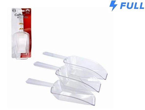 Kit 3 Colheres Dosadoras Transparente