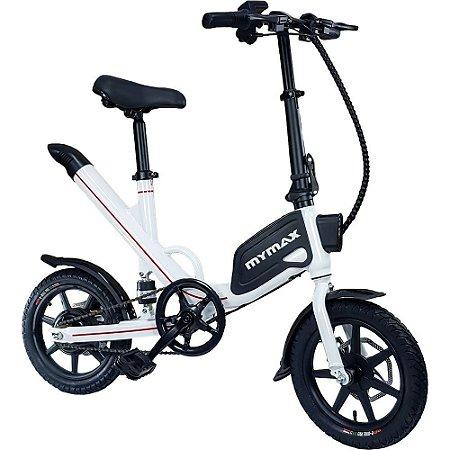 Bicicleta Eletrica Ebike Way 2.0 Aro 14 Pedal ate 40km Branc - MYMAX
