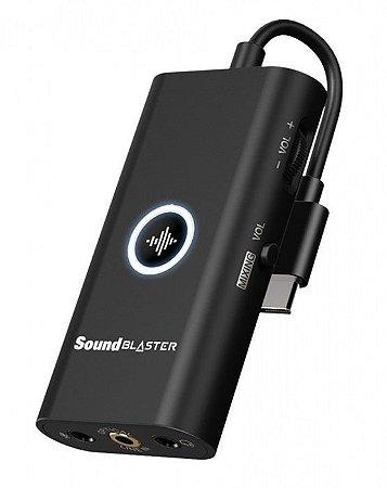 PLACA DE SOM - SOUND BLASTER G3 - PORTÁTIL USB-C PARA PS4, SWITCH, PC E MAC -70SB183000000