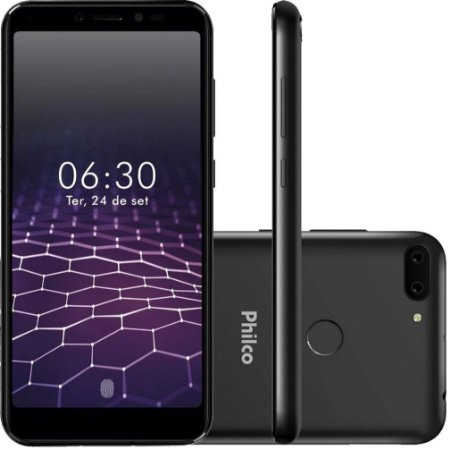 "Smartphone Philco PCS01 64GB Android 9.0 Pie Tela 5""5 Octa-core Câmera Dupla 13MP+2MP"