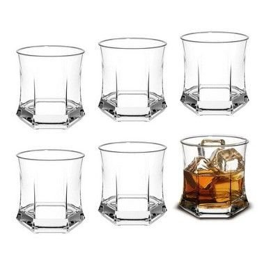 Kit 6 Copos Vidro Whisky Roma Rocks 295ml - Cisper