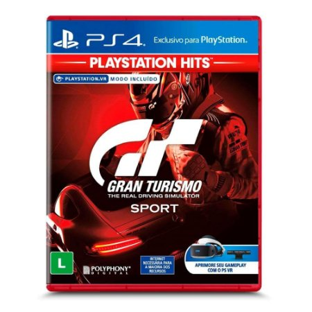 Jogo Gran Turismo Sport - Playstation Hits - PS4