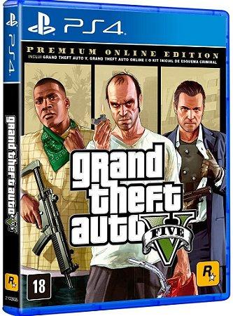 Jogo Grand Theft Auto V - Premium Edition - PS4