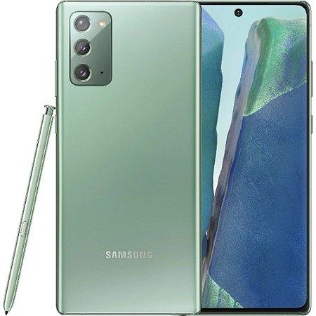 "Smartphone Samsung Galaxy Note 20 256GB Dual Chip Android 10.0 Tela 6.7"" Octa-Core 5G Câmera Tripla 12MP+64MP+12MP - Mystic Green"