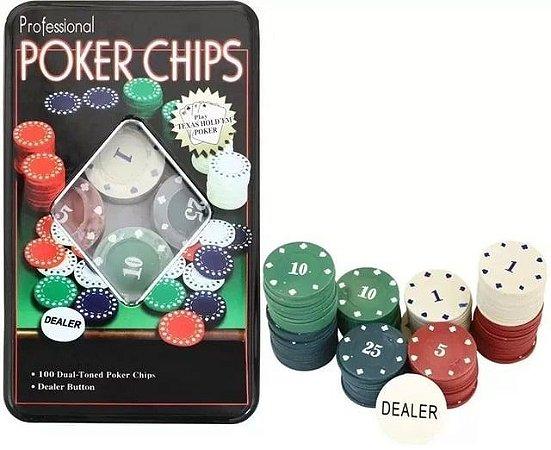 Poker Chips Professional - 100 Fichas