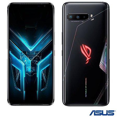 """Smartphone ROG Phone 3 Preto Asus, com Tela de 6,59"""", 5G, 128GB e Câmera Tripla de 64MP + 13MP + 5MP"""