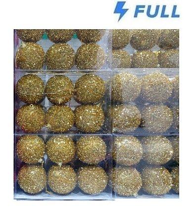 Conjunto 6 Bolas de Natal Gliter 7cm