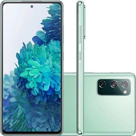 "Smartphone Samsung Galaxy S20 Fe Octa-Core 2.73GHz Dual Chip Wi-Fi 4G Tela 6.5"" Câmera Tripla Traseira de 12MP Ultra Wide + 12MP OIS + 8MP Telephoto - Cloud Mint"
