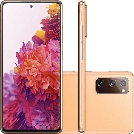 "Smartphone Samsung Galaxy S20 Fe Octa-Core 2.73GHz Dual Chip Wi-Fi 4G Tela 6.5"" Câmera Tripla Traseira de 12MP Ultra Wide + 12MP OIS + 8MP Telephoto - Cloud Orange"