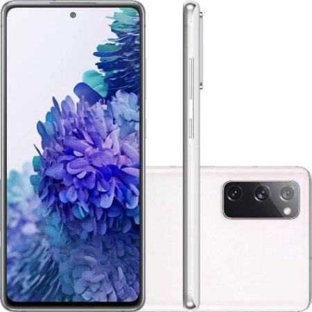 "Smartphone Samsung Galaxy S20 Fe Octa-Core 2.73GHz Dual Chip Wi-Fi 4G Tela 6.5"" Câmera Tripla Traseira de 12MP Ultra Wide + 12MP OIS + 8MP Telephoto - Cloud White"