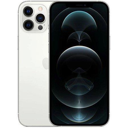 "iPhone 12 Pro Max Prateado iOS 5G Wi-Fi Tela 6.7"" Câmera - 12MP + 12MP + 12MP + Sensor LiDAR - Apple"