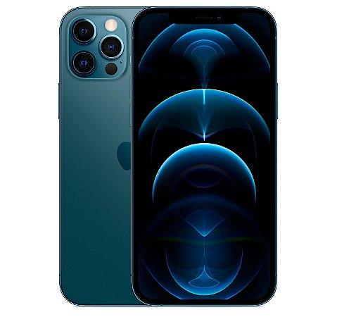"iPhone 12 Pro Max Azul Pacífico iOS 5G Wi-Fi Tela 6.7"" Câmera - 12MP + 12MP + 12MP + Sensor LiDAR - Apple"