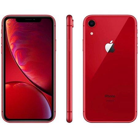 """iPhone XR Vermelho, com Tela de 6,1"""", 4G, 64 GB e Câmera de 12 MP - MH6P3BR/A"""