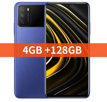 "Xiaomi versão global poco m3 smartphone snapdragon 662 4gb 6.53 ""display 6000mah bateria 48mp câmera"