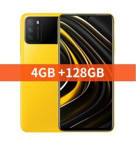 "Xiaomi versão global poco m3 smartphone snapdragon 662 4gb 6.53 ""display 6000mah bateria 48mp câmera"