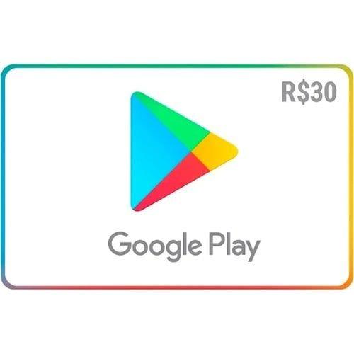 Gift Card Digital Google Play R$ 30