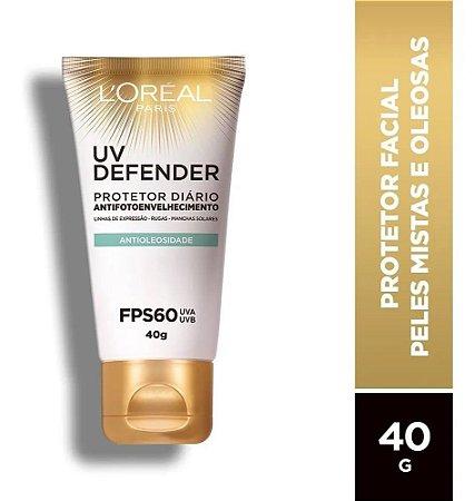 Protetor L'oréal Paris Uv Defender Antioleosidade