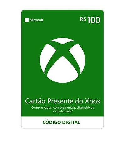 Gift Card Digital Xbox Cartão Presente R$ 100