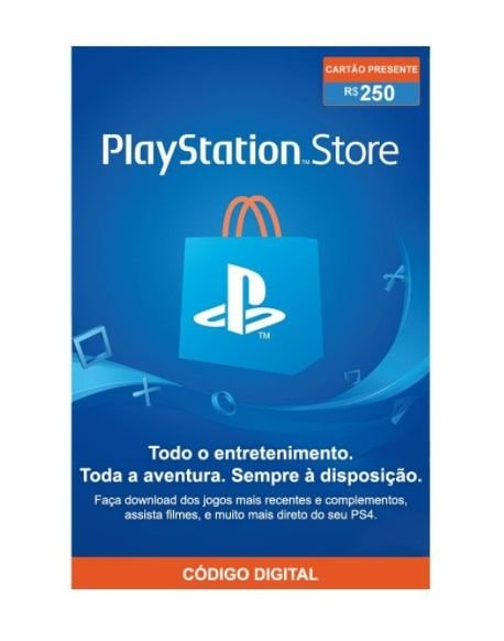 Gift Card Digital Sony Playstation - R$ 250