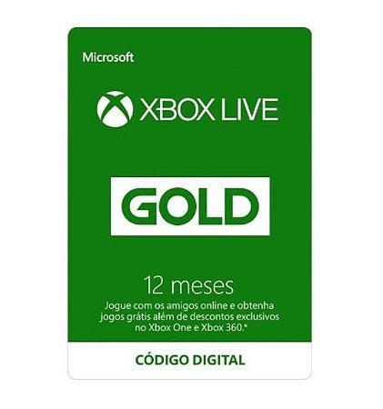 Gift Card Digital Xbox Live - 12 Meses