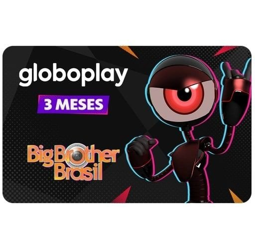 Gift Card Digital Globoplay 3 meses