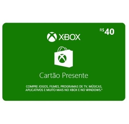 Gift Card Digital Xbox Cartão Presente R$40