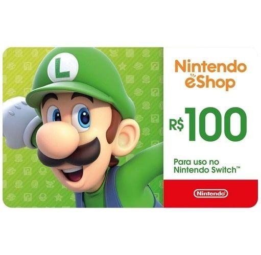 Gift Card Digital Nintendo R$100