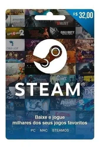 Gift Card  Steam R$30,00