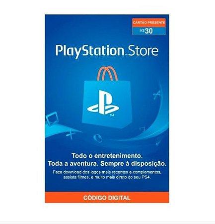 Gift Card Digital Sony Playstation - R$30