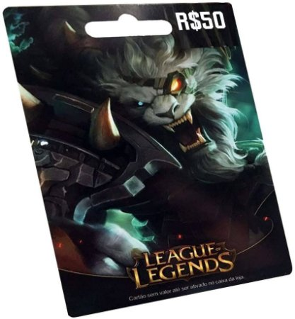 Gift Card Digital League of Legends R$ 50