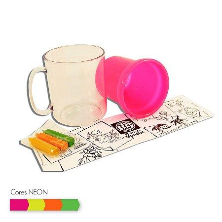 Caneca Térmica Infantil para Colorir 300 ml