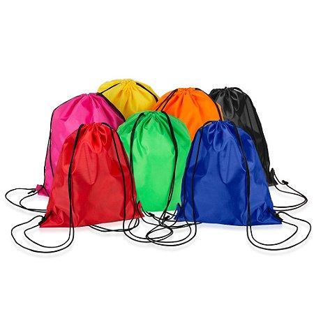 1cc1700e6 Mochila Saco Nylon Neon Personalizada 41 cm x 34 cm