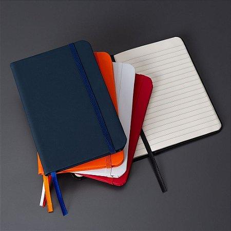 Caderneta Emborrachada Grande Personalizada 17,8 cm x 12,4 cm - COM PAUTA
