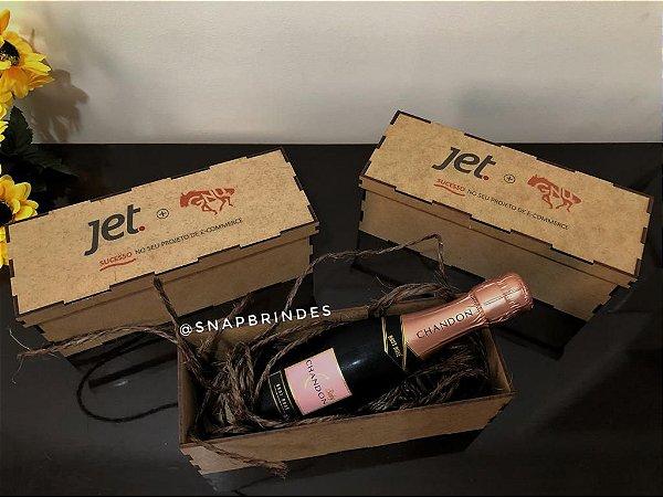 Caixinha de Mdf Personalizada para vinhos ou mini garrafas