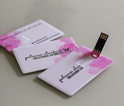 Pen Drive Cartão 04 , 08 , 16 ou 32 gigas Personalizado