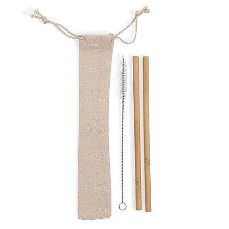 Canudo de Bambu Personalizado