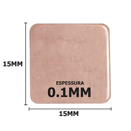 Dissipador de calor de Cobre 15x15x0.1mm