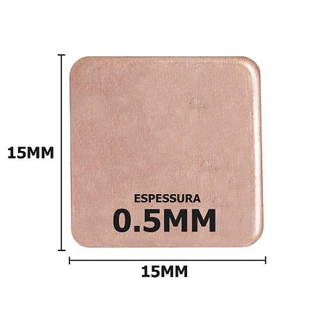 Dissipador de calor de Cobre 15x15x0.5mm