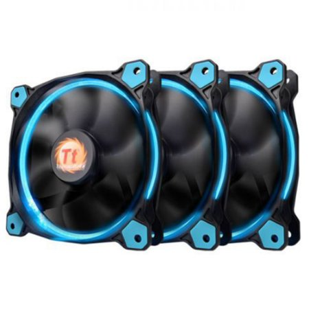 Pack 3x Fan Thermaltake Ring 12 Azul 120mm 1500RPM