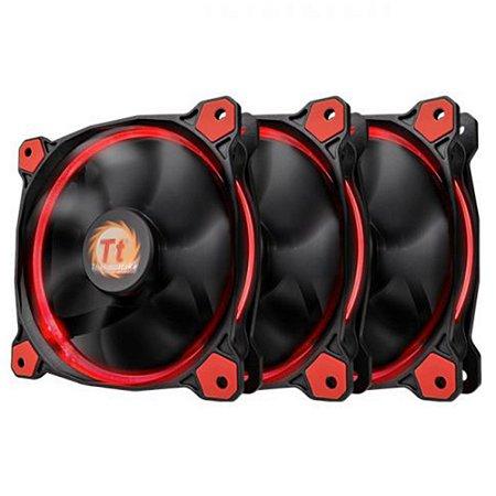 Pack 3x Fan Thermaltake Ring 12 Vermelho 120mm 1500RPM