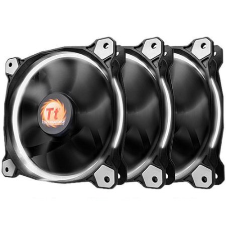 Pack 3x Fan Thermaltake Ring 12 Branco 120mm 1500RPM
