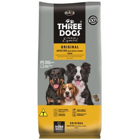 RAÇÃO THREE DOGS ORIGINAL